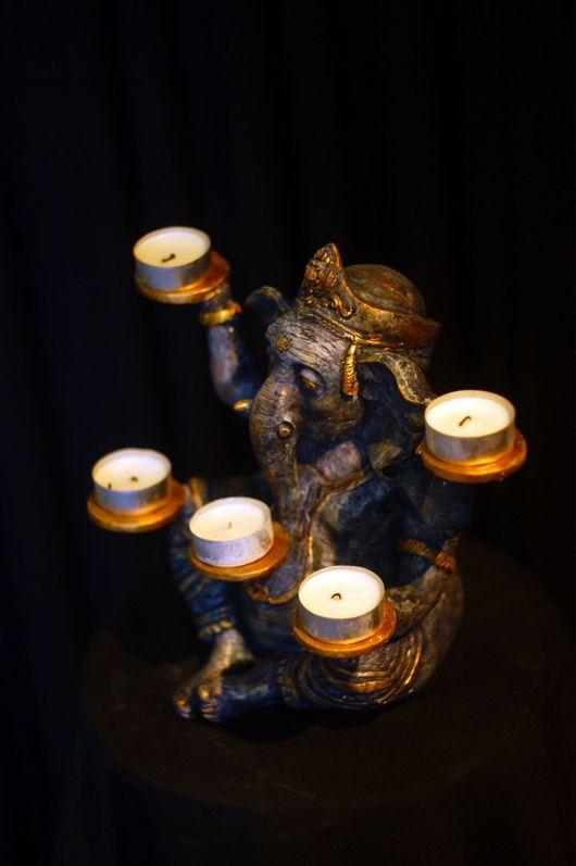 Медитация ручной работы. Ярмарка Мастеров - ручная работа. Купить Статуэтка Бога Ганеши для свечей. Handmade. Гипсовые фигурки, будда