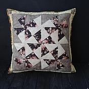 Для дома и интерьера ручной работы. Ярмарка Мастеров - ручная работа Лоскутная подушка. Кофейное настроение. Handmade.