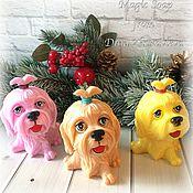 Косметика ручной работы handmade. Livemaster - original item Soap glamorous dog, Christmas soap, symbol of the year. Handmade.