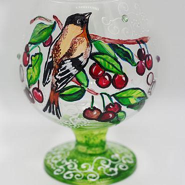Посуда ручной работы. Ярмарка Мастеров - ручная работа Бокалы: Дикая вишня. Handmade.