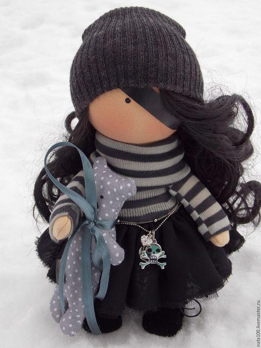 Коллекционные куклы ручной работы. Ярмарка Мастеров - ручная работа. Купить Интерьерная кукла. Handmade. Серый, кукла в подарок