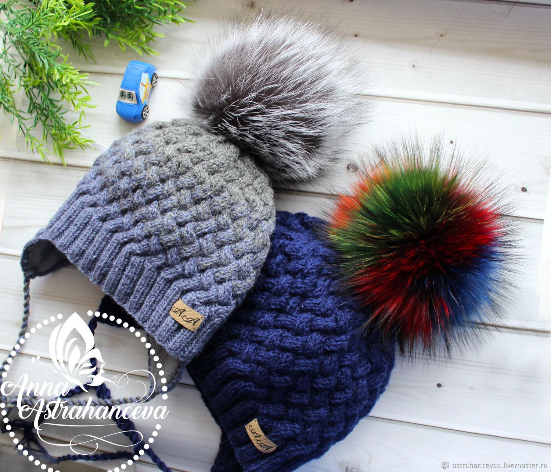 Вязание шапка плетёнка 82
