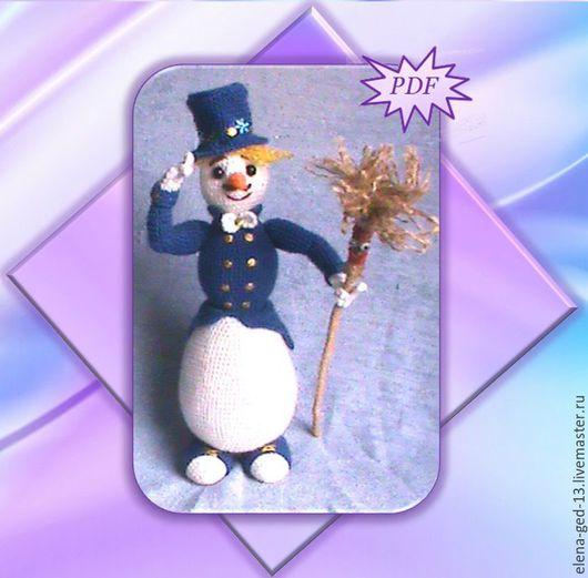 """Вязание ручной работы. Ярмарка Мастеров - ручная работа. Купить Снеговик """"КАВАЛЕР""""мастер-класс. Handmade. Комбинированный, авторская ручная работа"""