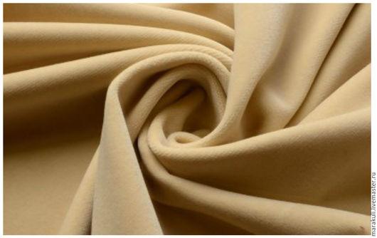 Натуральный высококачественный хлопковый бархат производства Италии оттенок топленого молока