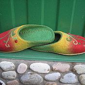 """Обувь ручной работы. Ярмарка Мастеров - ручная работа Валяные тапочки """" Любимые"""". Handmade."""