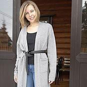 Одежда handmade. Livemaster - original item Grey long cardigan. Handmade.