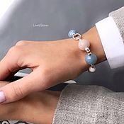 Украшения handmade. Livemaster - original item Blue tenderness bracelet stylish beautiful casual. Handmade.