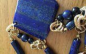 Украшения handmade. Livemaster - original item With pendant and earrings made of lapis lazuli.. Handmade.