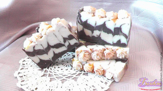 """Мыло ручной работы. Ярмарка Мастеров - ручная работа. Купить """"Шоколадный брауни"""" натуральное мыло с нуля. Handmade. Коричневый"""