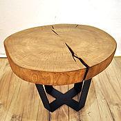 Столы ручной работы. Ярмарка Мастеров - ручная работа Стол из среза дерева / Мебель лофт эко. Handmade.