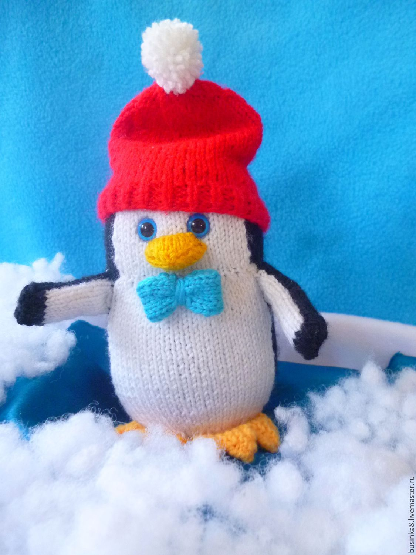 пингвин схема спицами