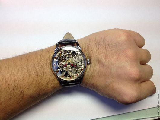 Часы ручной работы. Ярмарка Мастеров - ручная работа. Купить Часы ручной работы. Молния скелетон 11. Handmade. Подарок