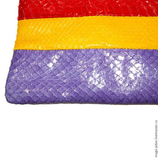 Женские сумки ручной работы. Ярмарка Мастеров - ручная работа. Купить Итальянский клатч из кожи питона. Handmade. Комбинированный
