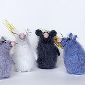 Куклы и игрушки handmade. Livemaster - original item Mouse toy mouse rat knitted mouse rat knitting needles. Handmade.