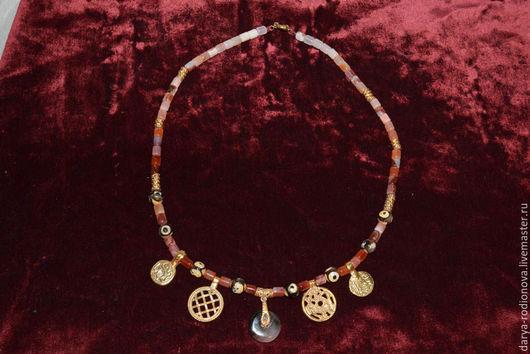 Колье, бусы ручной работы. Ярмарка Мастеров - ручная работа. Купить бусы в этнобохо стиле из натуральных камней. Handmade.