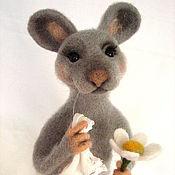 Куклы и игрушки ручной работы. Ярмарка Мастеров - ручная работа Мышка.Игрушка из шерсти.. Handmade.