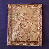 Картины и панно handmade. Livemaster - original item The Vladimir icon of the Mother of God. Handmade.