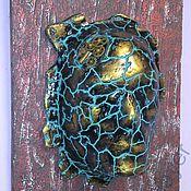 Маска на стену панно декор Каменное Лицо.