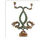 Для дома и интерьера ручной работы. Ярмарка Мастеров - ручная работа Подсвечник из бронзы 60 см Драконы. Handmade.