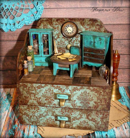 """Мини-комоды ручной работы. Ярмарка Мастеров - ручная работа. Купить Мини-комод""""Vintage Pharmacy"""". Handmade. Чёрно-белый"""