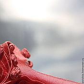 Одежда handmade. Livemaster - original item Skirt with rosettes long (wild silk). Handmade.