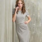 Одежда handmade. Livemaster - original item Evening light grey dress of thick Jersey.. Handmade.