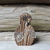 Подарки к праздникам ручной работы. Ярмарка Мастеров - ручная работа Берёзовая коса - деревянная девочка. Handmade.