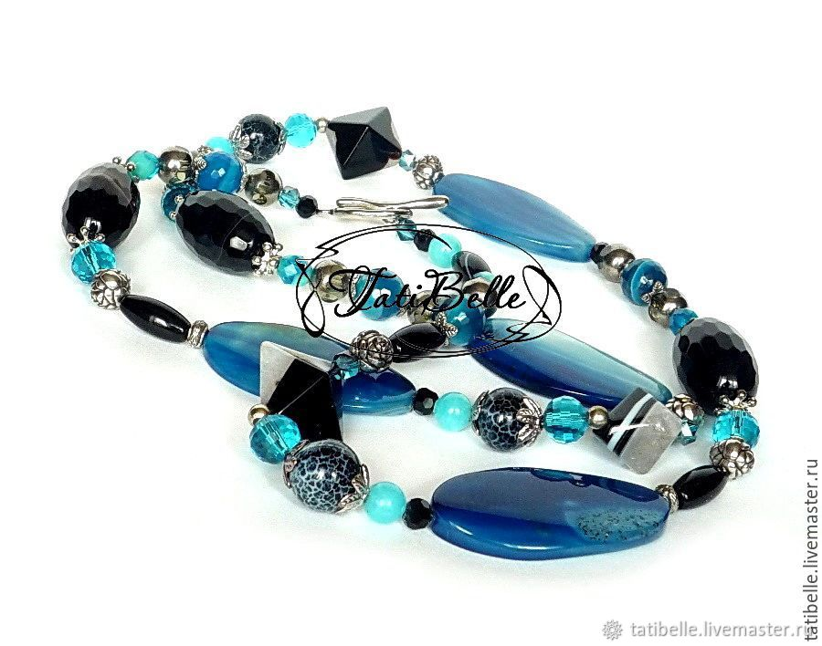 Beads with agate 'Mysteries of the Ocean', Necklace, Moscow,  Фото №1