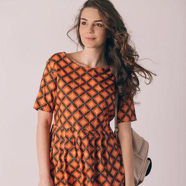 """Одежда ручной работы. Ярмарка Мастеров - ручная работа платье """"Ромбики"""". Handmade."""