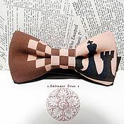 Аксессуары handmade. Livemaster - original item Bow tie Chess/ Rook/ Queen/ chessmen/ intelligence/ IG. Handmade.