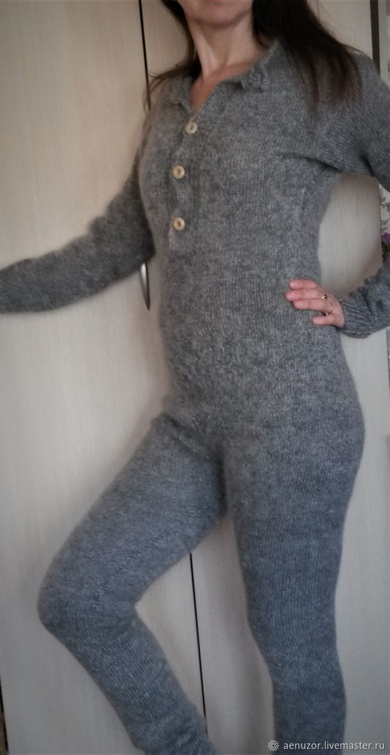 Jumpsuit fashion knitted of goat down, Jumpsuits & Rompers, Urjupinsk,  Фото №1