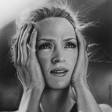 Картины и панно ручной работы. Ярмарка Мастеров - ручная работа Женский портрет, портрет по фотографии. Handmade.