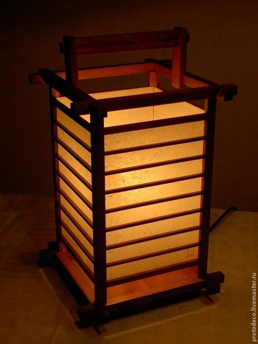 """Освещение ручной работы. Ярмарка Мастеров - ручная работа. Купить Светильник в японском стиле """"Киото"""". Handmade. Светильник, японский стиль"""
