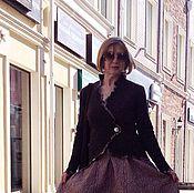 """Одежда ручной работы. Ярмарка Мастеров - ручная работа Жакет  """"Theobroma Сacao"""" (100% шерсть, Германия). Handmade."""