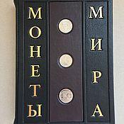 Сувениры и подарки handmade. Livemaster - original item Coins of the world (leather gift book). Handmade.