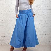 Юбки ручной работы. Ярмарка Мастеров - ручная работа Юбка - штаны зимняя голубая. Handmade.