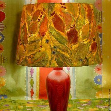 """Для дома и интерьера ручной работы. Ярмарка Мастеров - ручная работа """"Бабье Лето"""" Светильник с валяным абажуром. Handmade."""