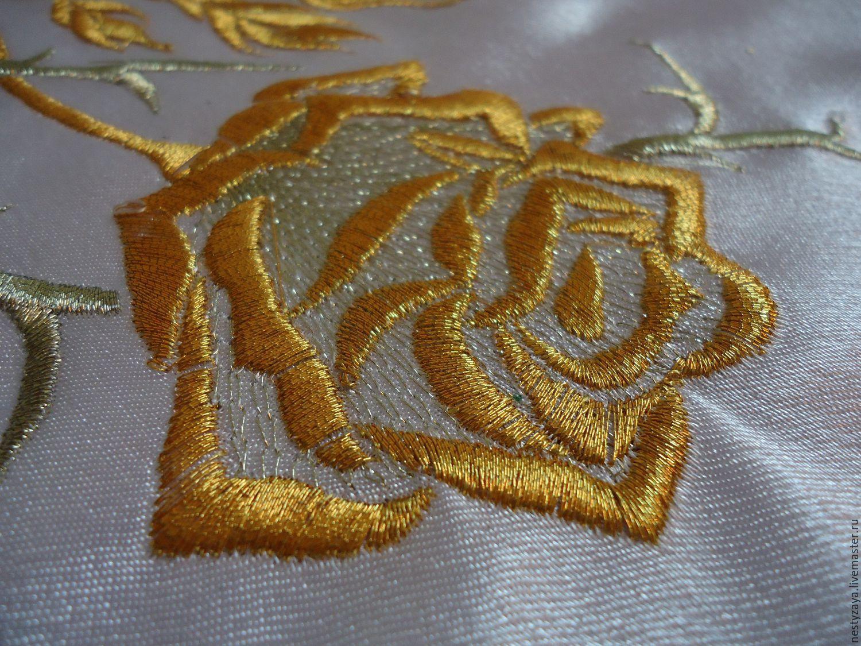 Розы вышивка машинная 47