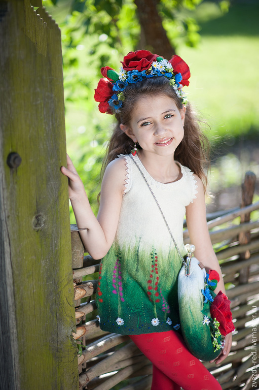 """Одежда для девочек, ручной работы. Ярмарка Мастеров - ручная работа. Купить сарафан для девочки  """"Мальвы в саду"""". Handmade. Лето 2015"""