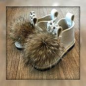 """Обувь ручной работы. Ярмарка Мастеров - ручная работа Валеши с мехом """"Жемчужина"""". Handmade."""