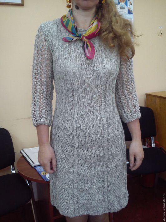 Платья ручной работы. Ярмарка Мастеров - ручная работа. Купить платье. Handmade. Серый, теплое платье