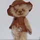 Мишки Тедди ручной работы. Ярмарка Мастеров - ручная работа. Купить Малыш Джони. Handmade. Бежевый, мишка в одежке, холофайбер