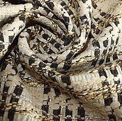 Материалы для творчества ручной работы. Ярмарка Мастеров - ручная работа Отрез 1,6м Пальтово-костюмная ткань типа шанель. Handmade.
