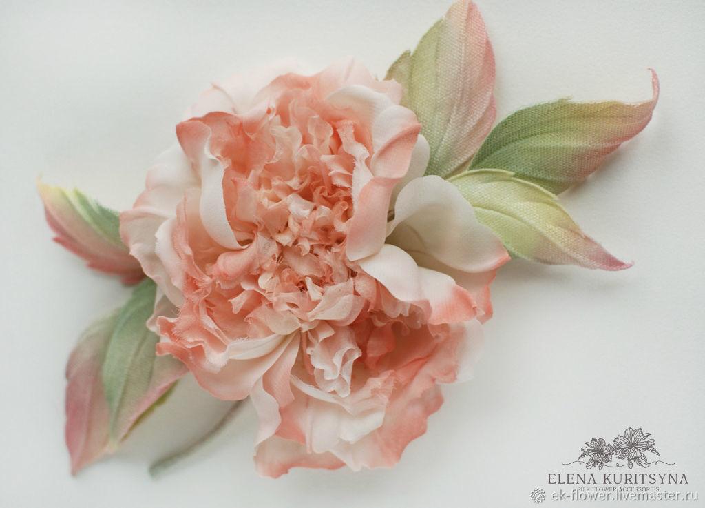 Silk flowers rose brooch valerie shop online on livemaster with silk flowers rose brooch valerie silk flower mightylinksfo