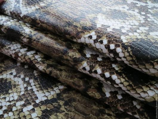 Шитье ручной работы. Ярмарка Мастеров - ручная работа. Купить Кожа натуральная Рептилия Питон коричневый. Handmade. Комбинированный