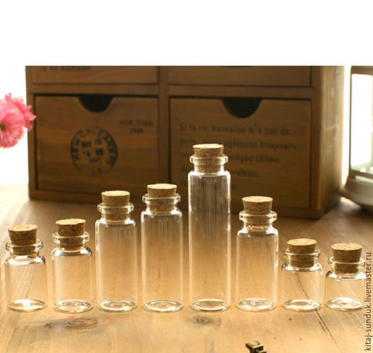 Другие виды рукоделия ручной работы. Ярмарка Мастеров - ручная работа. Купить Бутылочки декоративные 2 см  высота 3-9,5 см в ассортименте. Handmade.