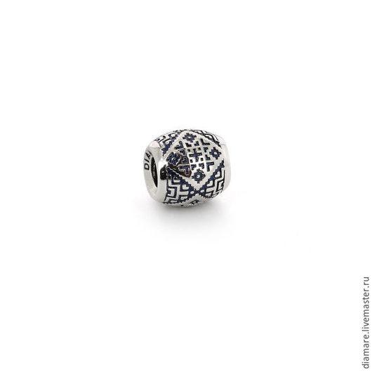 Серебряный Шарм `Вышитый узор`. Арт. 05-0393