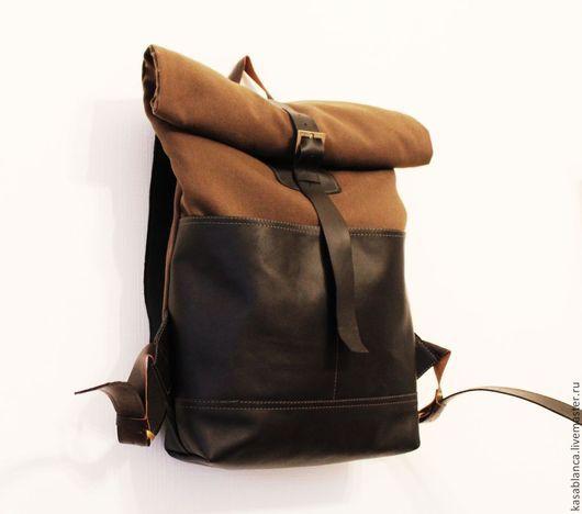 """Рюкзаки ручной работы. Ярмарка Мастеров - ручная работа. Купить Рюкзак в стиле """"милитари"""" / Роллтоп. Handmade. Хаки, рюкзак"""