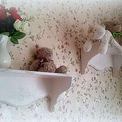 """Для дома и интерьера ручной работы. Ярмарка Мастеров - ручная работа Полочки """"Сиреневый шебби"""". Handmade."""