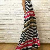 Одежда ручной работы. Ярмарка Мастеров - ручная работа Платье в цветную полоску. Handmade.